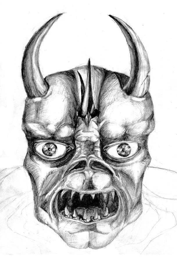 Demonio asustadizo ilustración del vector