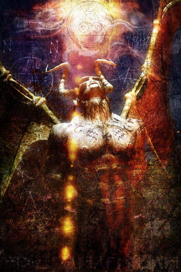 Demonio de Lovercraft pintado libre illustration