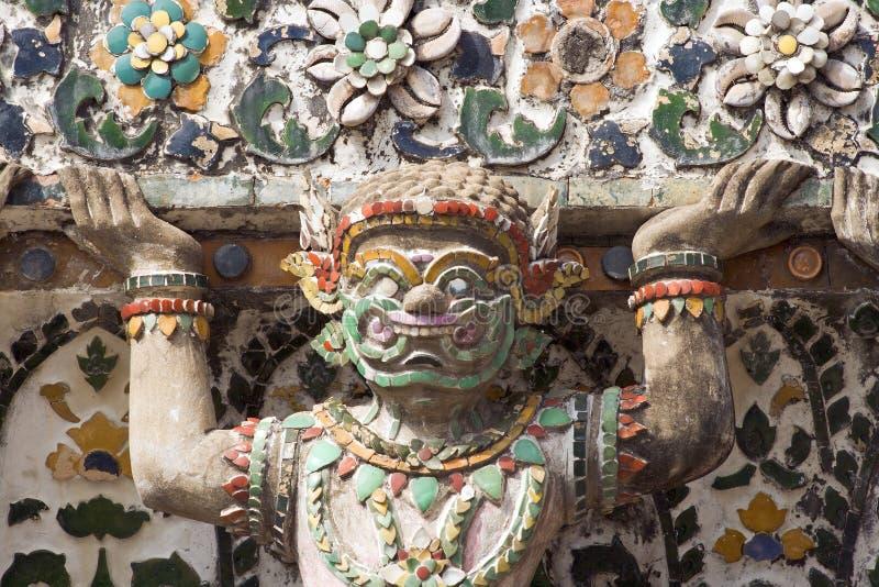 Demonio de Wat Arun fotografía de archivo