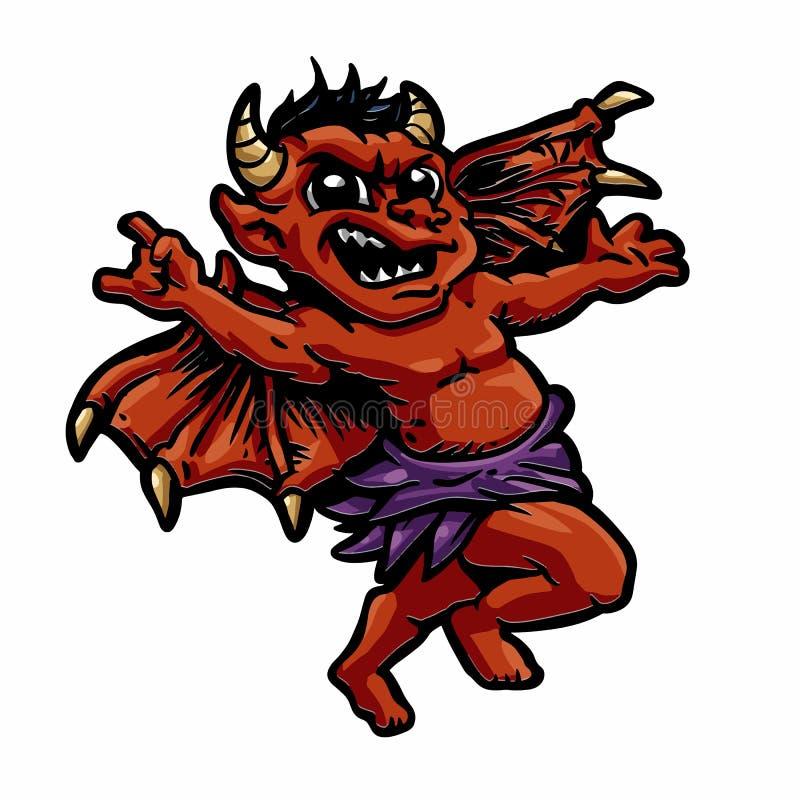 Demonio del bebé stock de ilustración