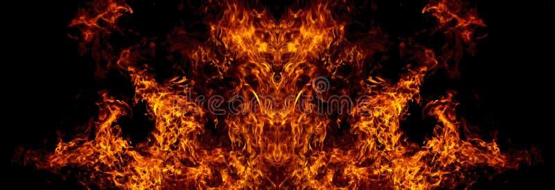 Demonio del fuego stock de ilustración