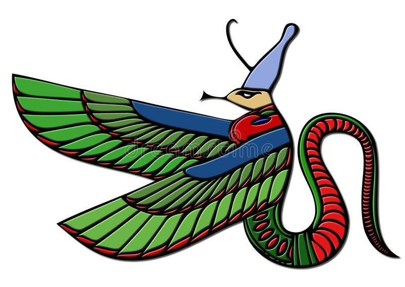 Demonio egipcio - dragón ilustración del vector