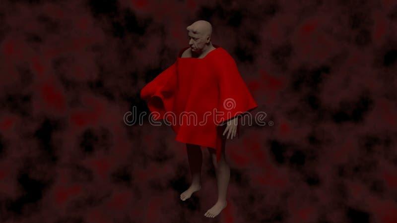 Demonio en infierno fotografía de archivo libre de regalías
