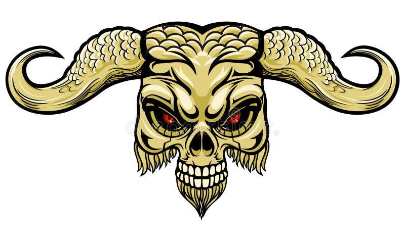 Demoniskt horn vektor illustrationer