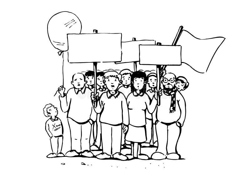 Demonstração ilustração royalty free