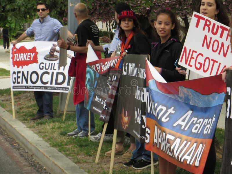 Demonstração armênia do holocausto imagens de stock royalty free