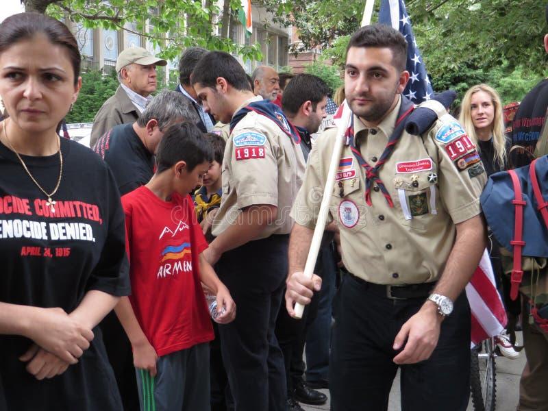 Demonstração armênia do holocausto foto de stock