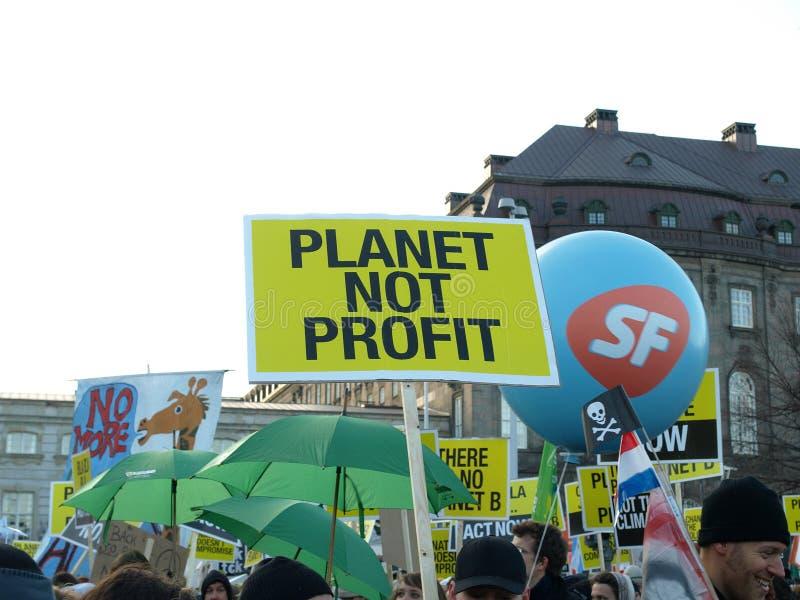 Demonstração da mudança de clima do UN foto de stock royalty free