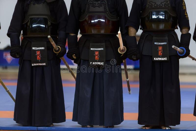 Demonstração de artes marciais tradicionais japonesas foto de stock royalty free