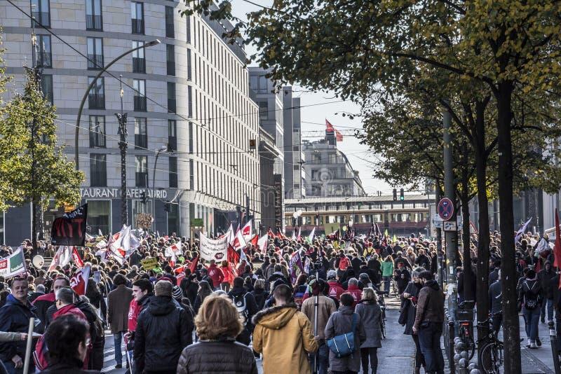 Demonstração em Berlim imagem de stock