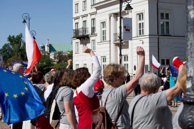 Demonstração política KOD imagem de stock royalty free