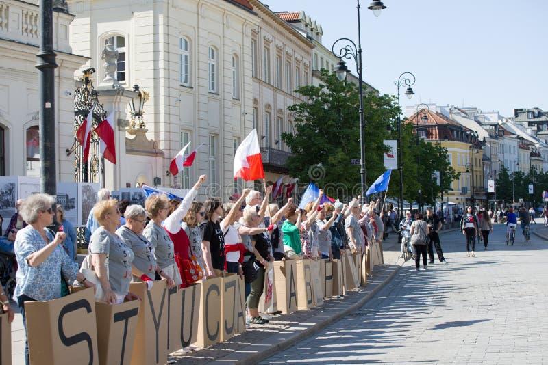 Demonstração política KOD foto de stock royalty free