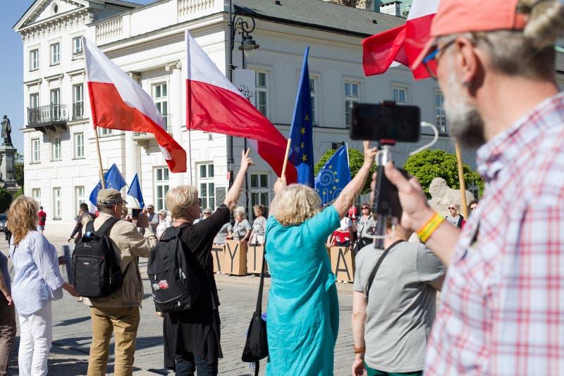 Demonstração política KOD imagens de stock