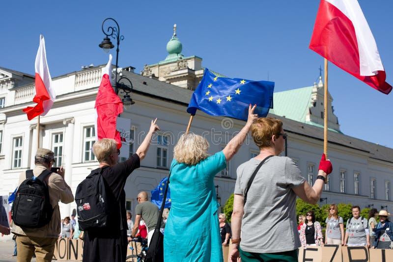 Demonstração política KOD fotografia de stock