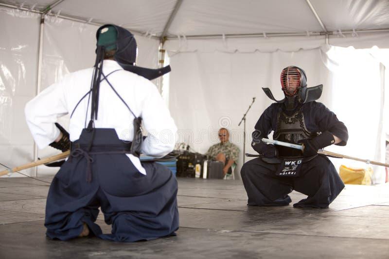 demonstraci kendo zdjęcie royalty free