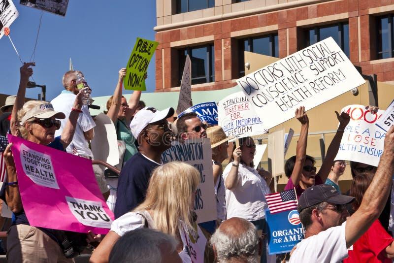 demonstraci opieki zdrowotnej obama zwolennicy obrazy royalty free