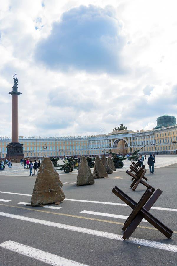 Demonstracja militarny wyposażenie od wielkiego Patriotycznego wa fotografia royalty free