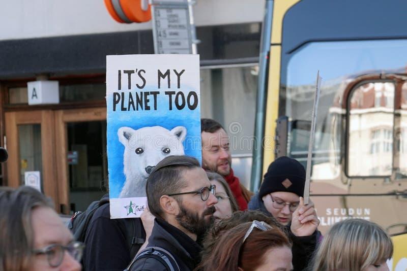 Demonstracje i sygnały klimatyczne obraz stock