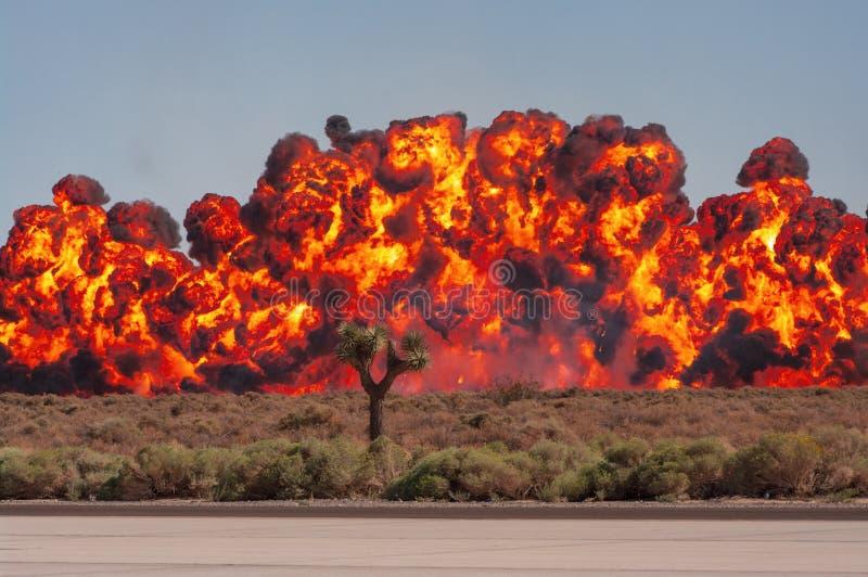Demonstracyjne show bombowe obraz stock