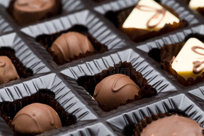 Demonstrador da caixa do chocolate foto de stock royalty free