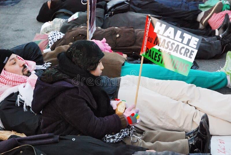 demonstrants加沙战争 库存图片