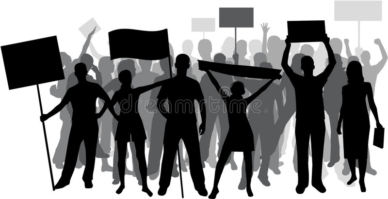 Download Demonstrate stock vector. Image of parade, hang, illustration - 2686456