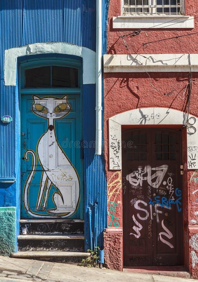 Graffiti in Valparaiso Chile stock photo