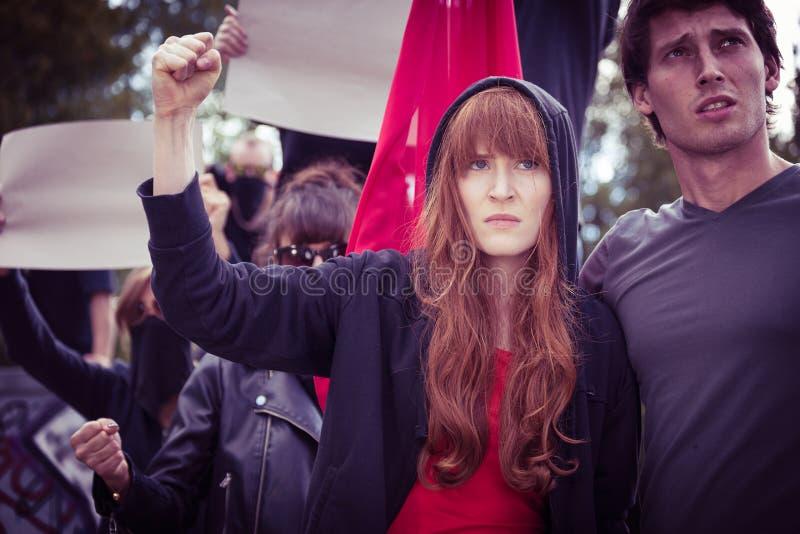 Demonstratie op de straat royalty-vrije stock foto