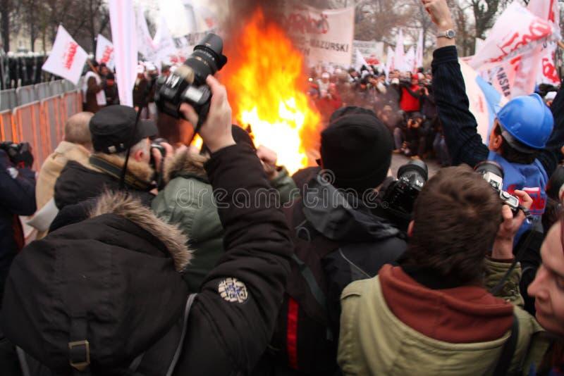 Demonstration stockbild