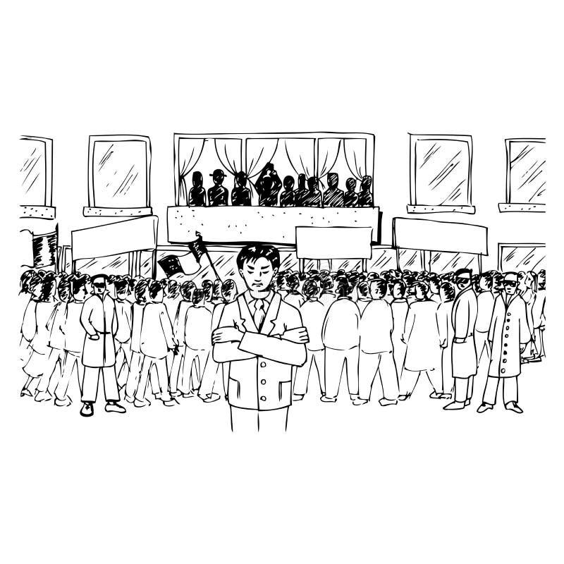 Download Demonstration stock illustration. Image of shout, cartoon - 22802999