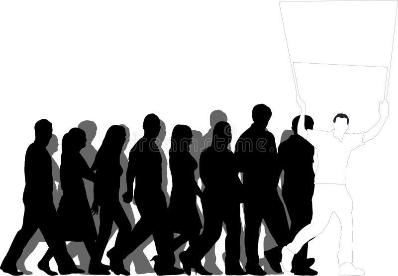 Download Demonstration stock illustrationer. Illustration av kvinnor - 510513