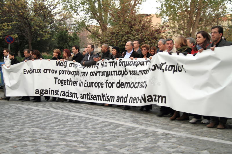 Download Demonstration in Athens editorial image. Image of nazism - 28330575