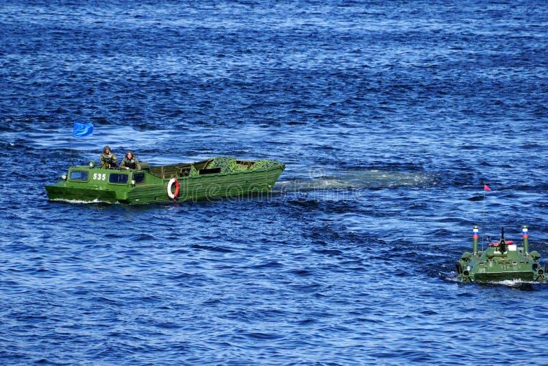 Demonstration av anfall från slagskeppet royaltyfri foto