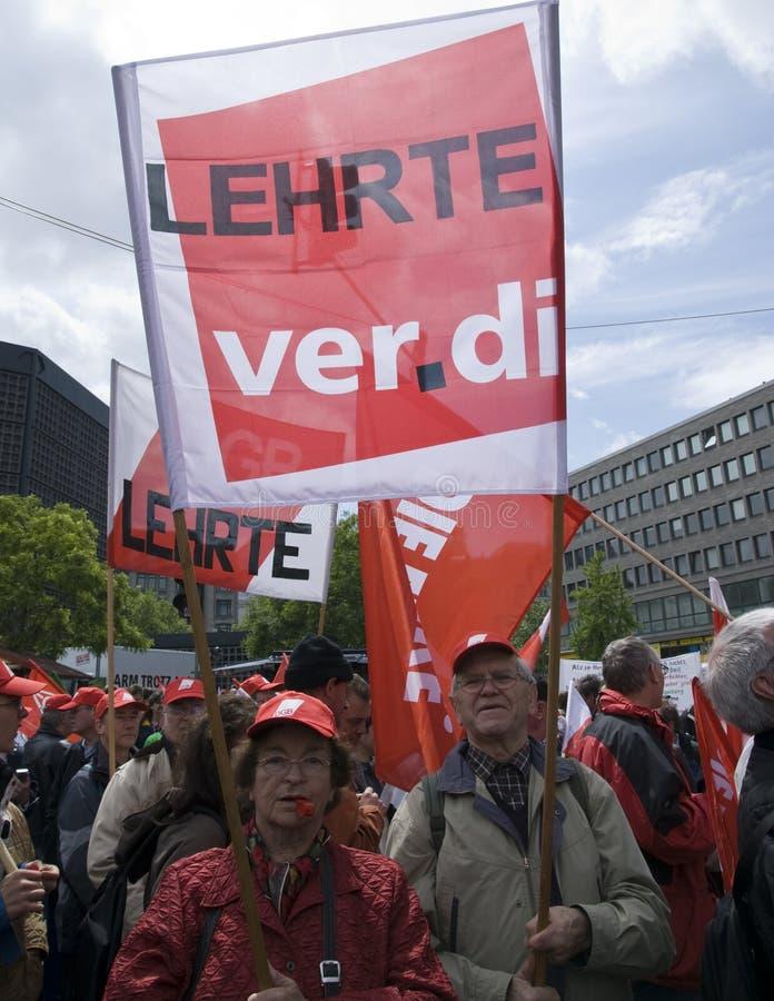 Demonstration in Berlin am 16. Mai 2009 stockfoto