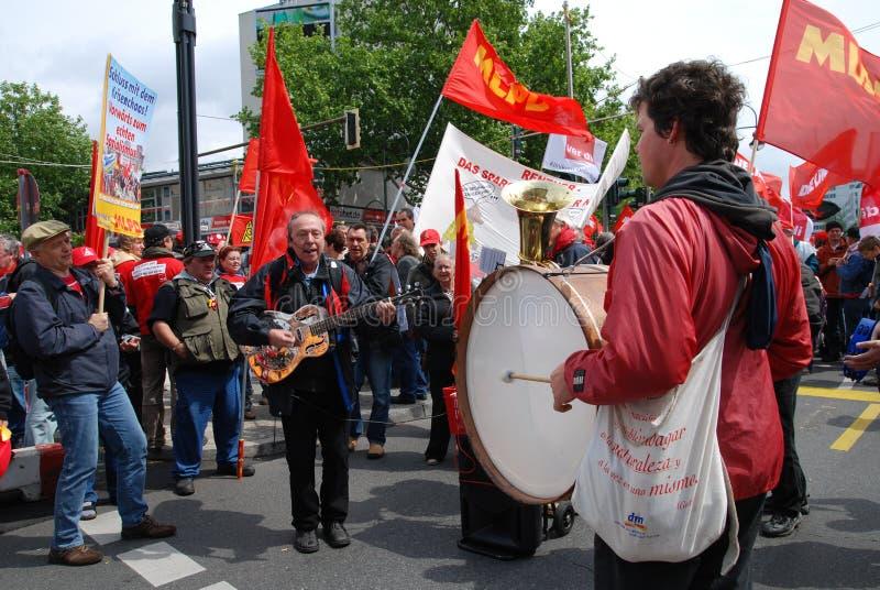 Demonstration in Berlin am 16. Mai 2009 lizenzfreie stockbilder