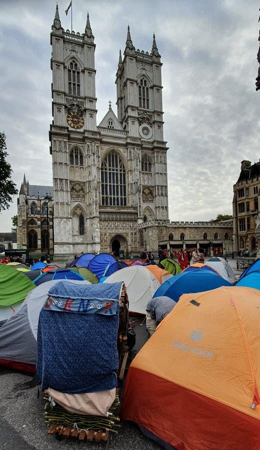 Demonstration der Ausrottung der Rebellion in London, Vereinigtes Königreich lizenzfreie stockfotografie