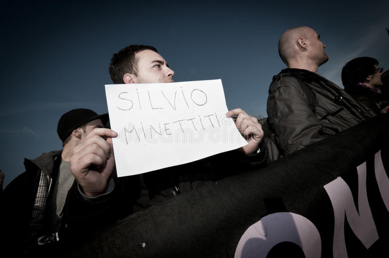 Download Demonstration Held In Arcore February 06, 2011 Editorial Stock Image - Image: 18262649