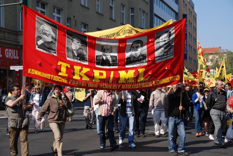 Demonstration am Maifeiertag lizenzfreies stockbild