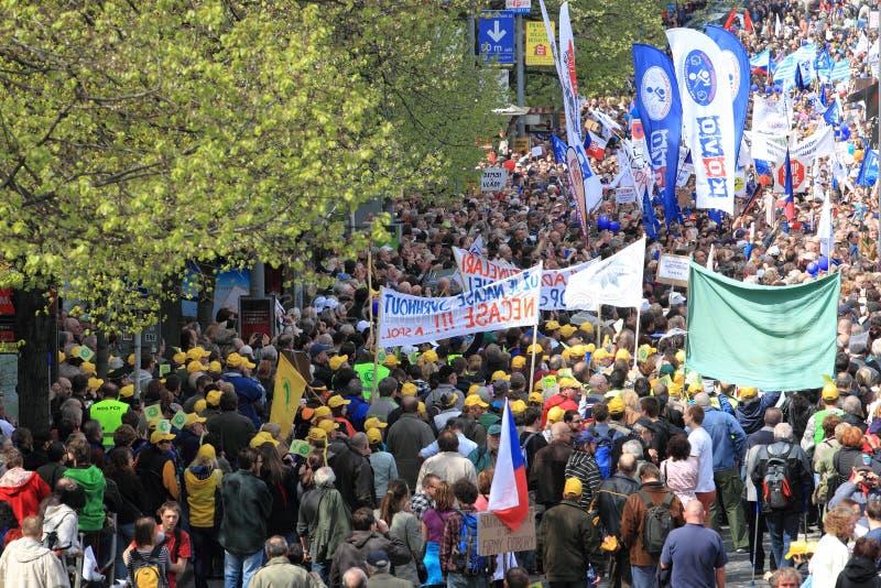 Demonstration In Prague Editorial Stock Image