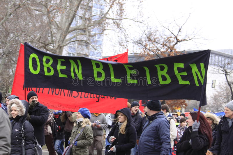 Demonstration - Stuttgart 21 lizenzfreie stockbilder