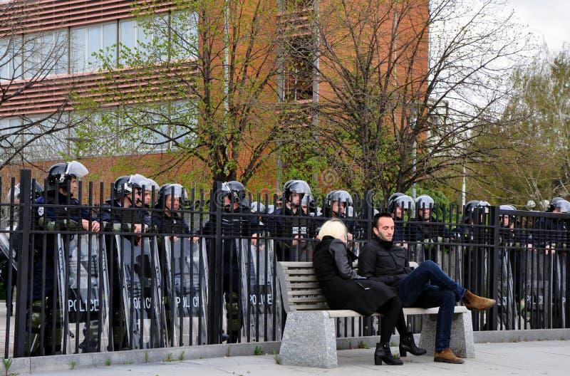 Demonstrationsförälskelse arkivbilder