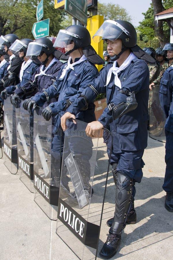 Demonstrationssysteme liefen auf dem siamesischen Kapital zusammen lizenzfreies stockfoto
