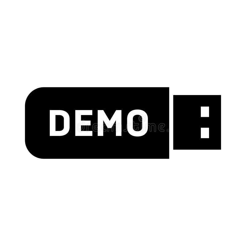 Demonstrationversion stock illustrationer