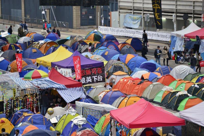 Demonstre em Hong Kong foto de stock royalty free