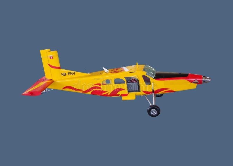 Demontert stort för portvaktskala för turboladdare PC-6/B2-H4 flygplan för modell fotografering för bildbyråer