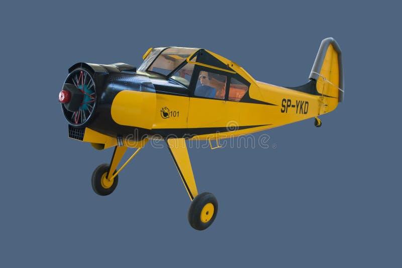Demontert stort flygplan för PZL-Okecie 101A Gawron skalamodell royaltyfri foto