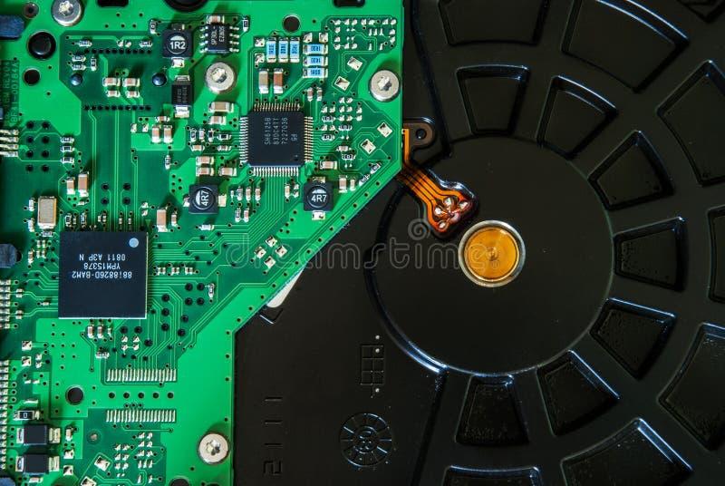 Demontująca komputerowa HDD dyska twardego przejażdżka fotografia royalty free