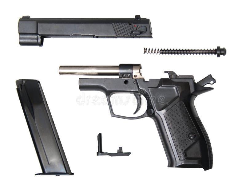 Demontujący fort-12r pourazowy pistolet obraz stock