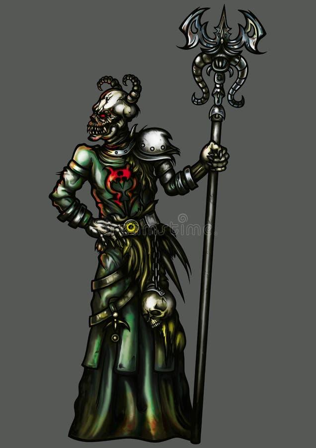 Demonu czarownik ilustracja wektor