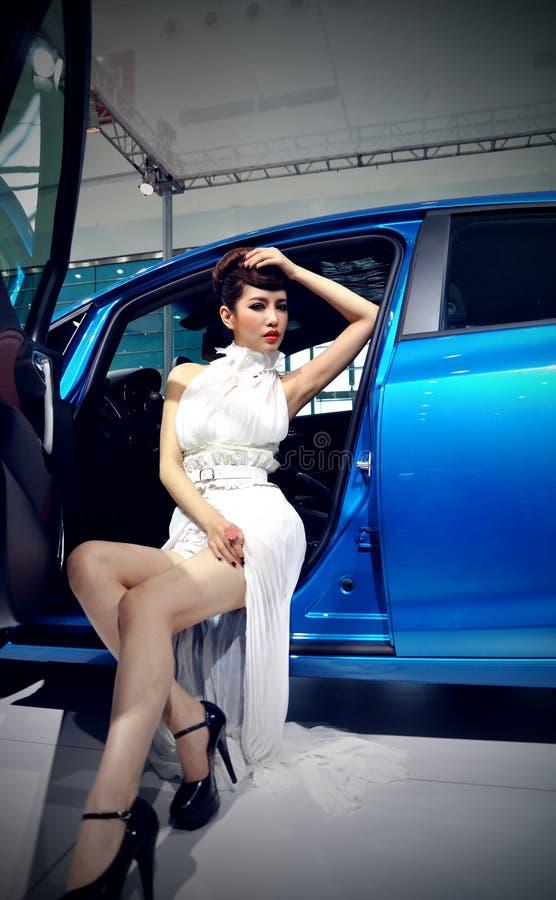 Demostración de coche en Wuhan imágenes de archivo libres de regalías
